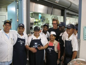 Kevin Bacon with Encore Staff